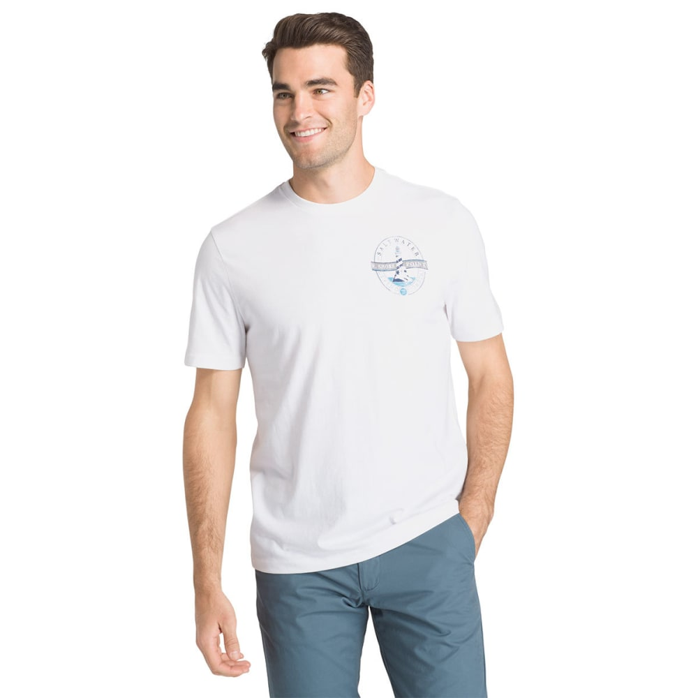 IZOD Men's Back Point Lighthouse Tee - BRIGHT WHITE-101