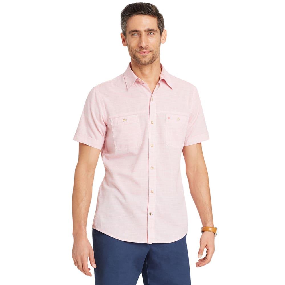 IZOD Men's Saltwater Dockside Chambray Short-Sleeve Shirt L