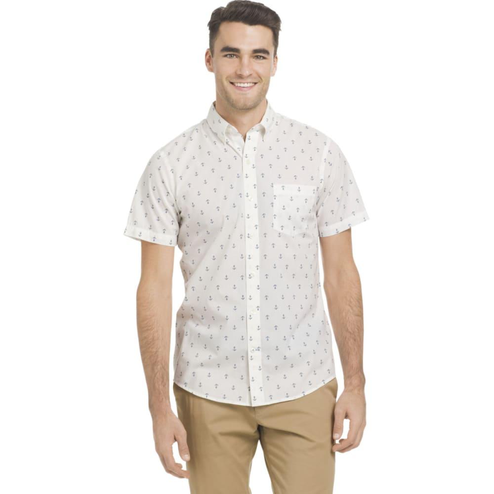 IZOD Men's Breeze Printed Poly Poplin Short-Sleeve Shirt - BRGHT WHT ANCHR-116