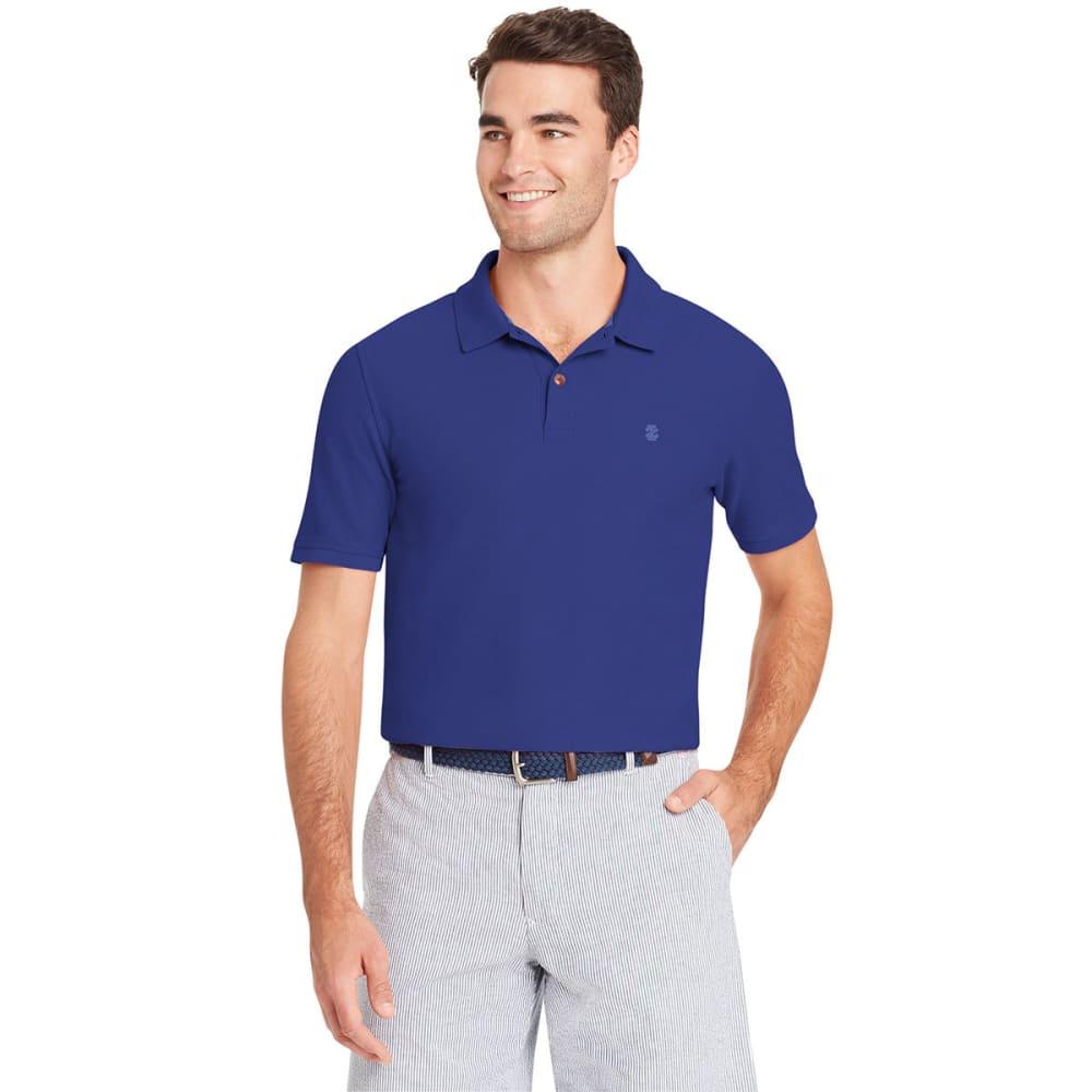Izod Men's Advantage Performance Short-Sleeve Polo Shirt - Blue, M