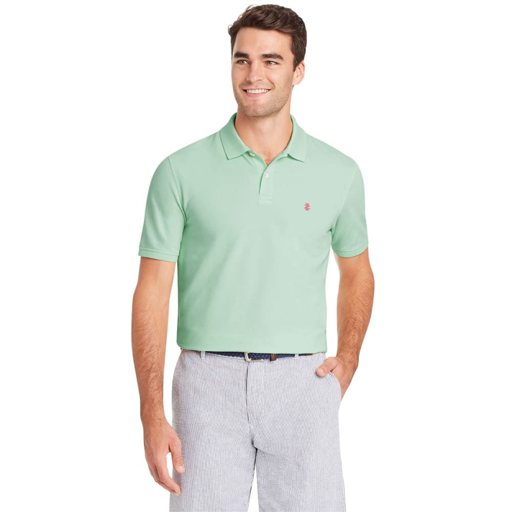 IZOD Men's Advantage Performance Solid Short-Sleeve Polo Shirt - DUSTY JADE GREEN-365