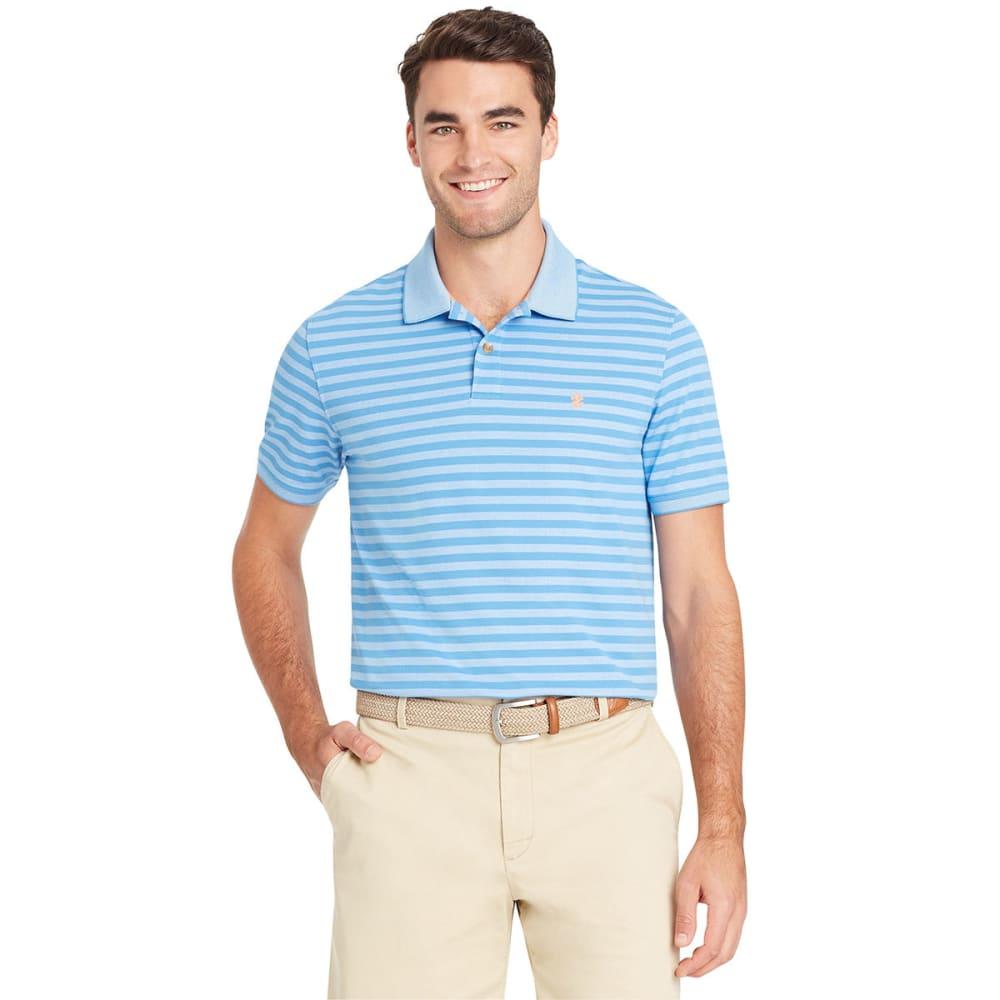 IZOD Men's Sportflex Feeder Stripe Short-Sleeve Polo Shirt L