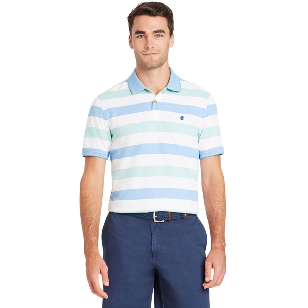 IZOD Men's Advantage Performance Stripe Short-Sleeve Polo Shirt - DUSTY JADE GREEN-365