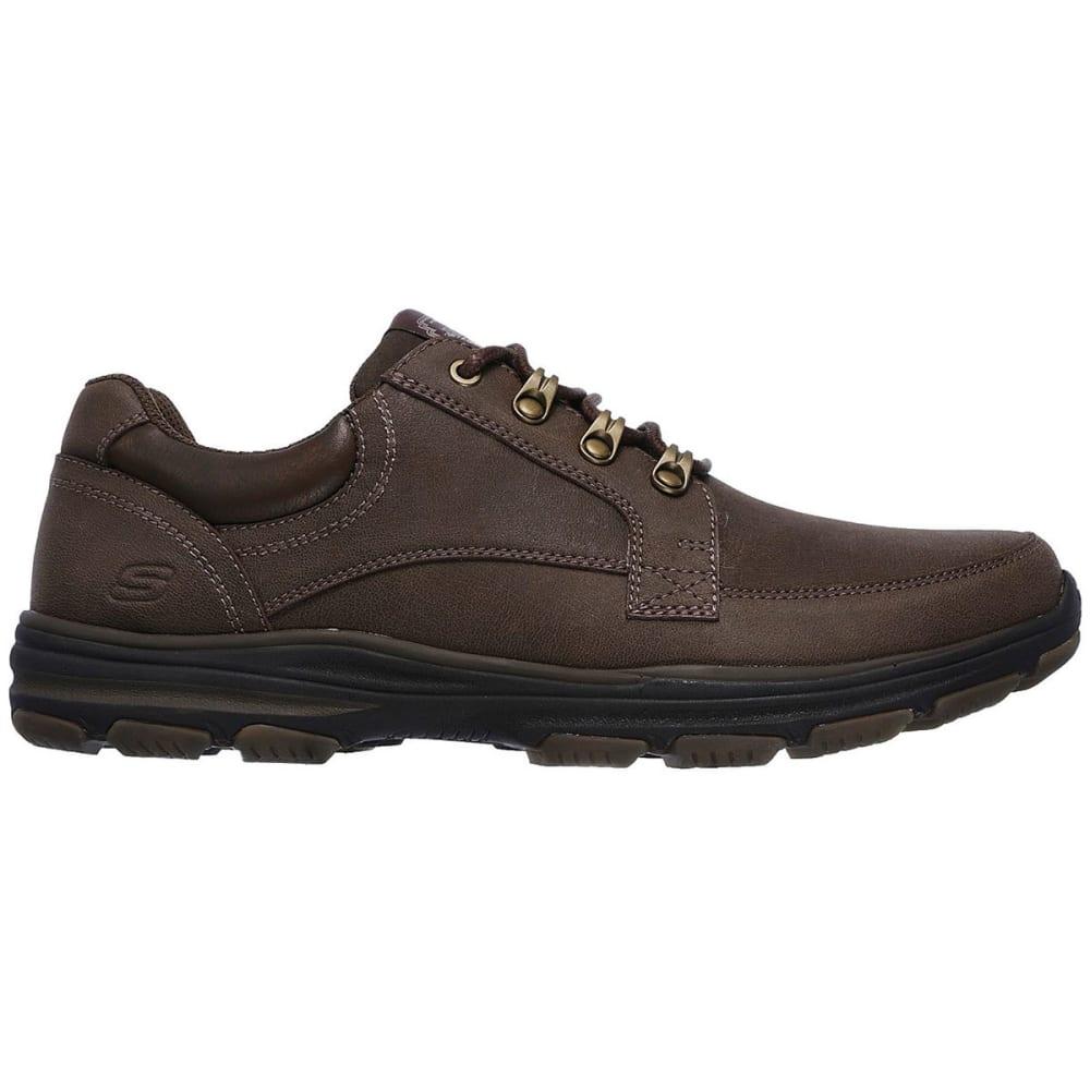 SKECHERS Men's Garton – Briar Casual Shoes, Chocolate Brown, Wide - CHOCLATE BROWN