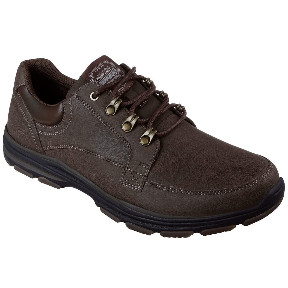SKECHERS Men's Garton – Briar Casual Shoes, Chocolate Brown, Wide - CHOCLATE BROWN