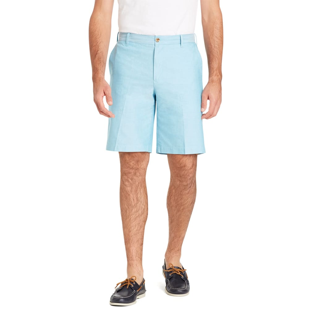 IZOD Men's Newport Flat-Front Oxford Shorts - ALGIERS BLUE-431