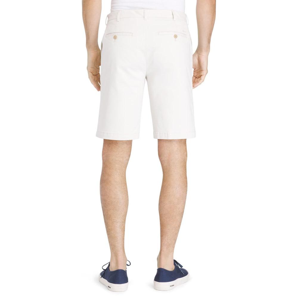 IZOD Men's Saltwater Stretch Flat-Front Chino Shorts - STONE-278
