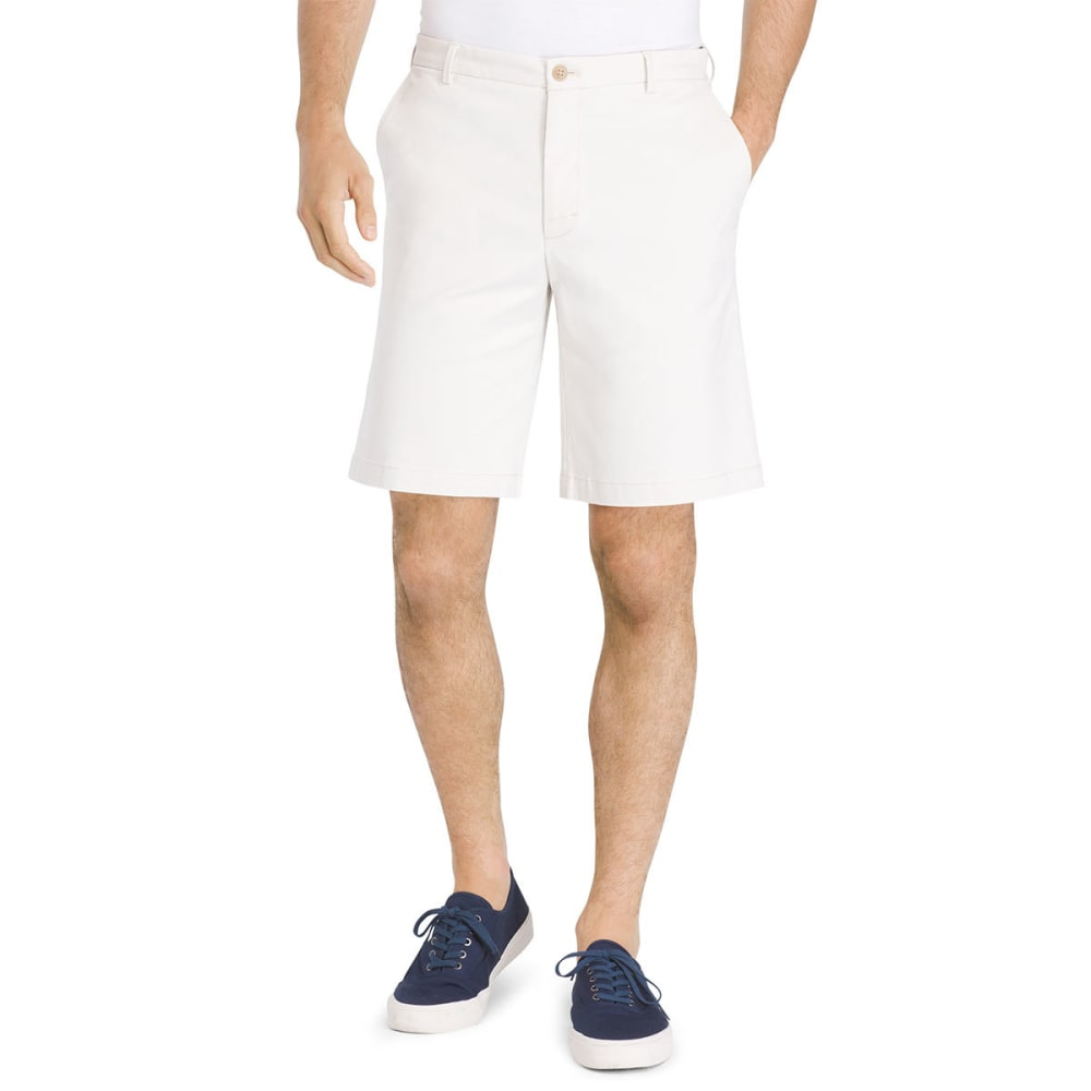 IZOD Men's Saltwater Stretch Flat-Front Chino Shorts - STONE-278