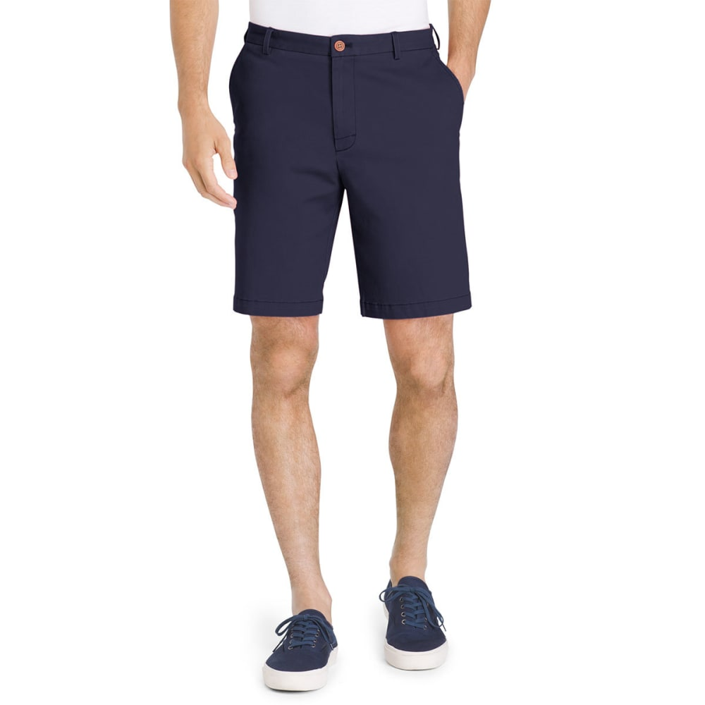 IZOD Men's Saltwater Stretch Flat-Front Chino Shorts 30