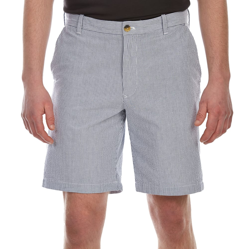 IZOD Men's Seersucker Stripe Flat-Front Shorts - CADET NAVY-412
