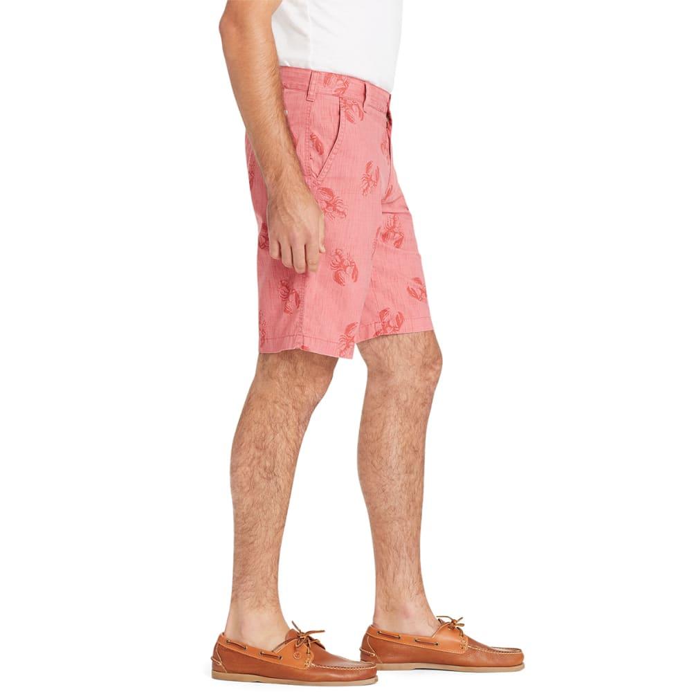 IZOD Men's Dockside Tonal Lobster Print Flat-Front Shorts - SALTWATER RED-648