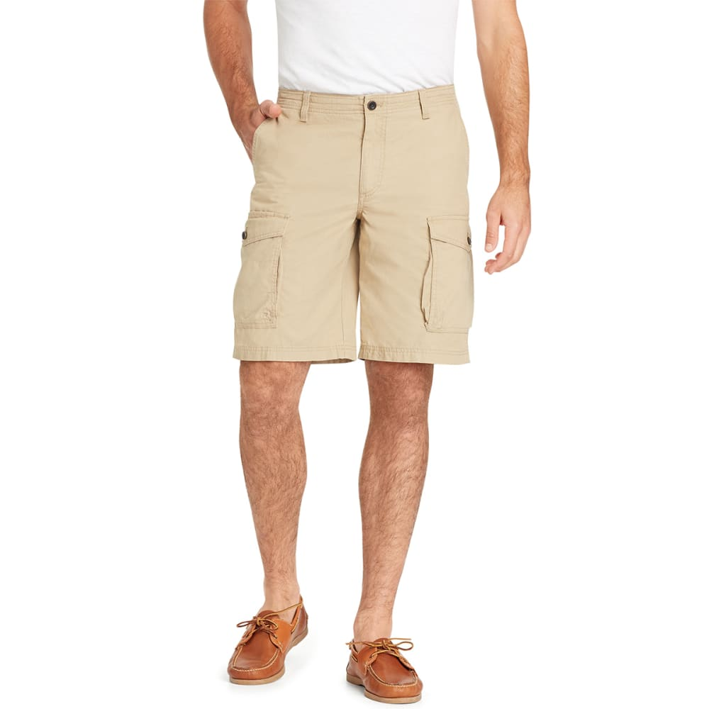 IZOD Men's Seaside Saltwater Mini-Ripstop Cargo Shorts - CD KHAKI-261