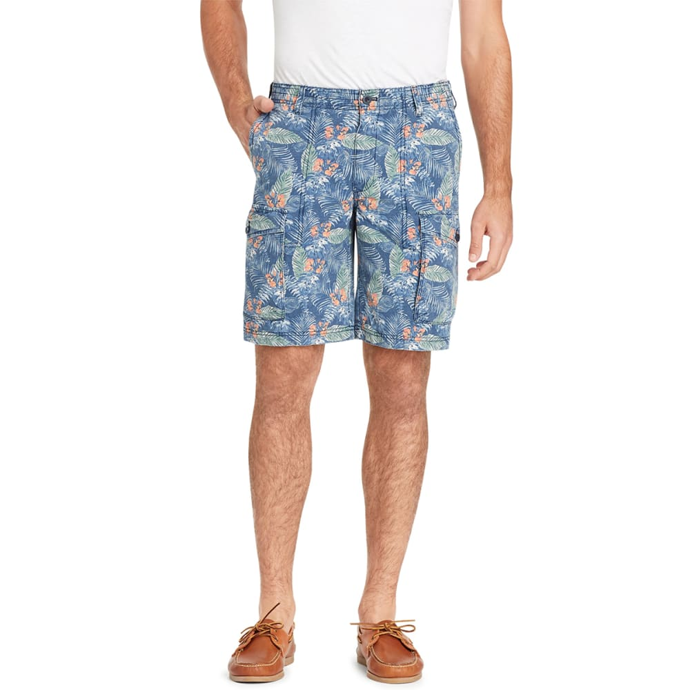 IZOD Men's Beachtown Printed Cargo Shorts - NAVY-411