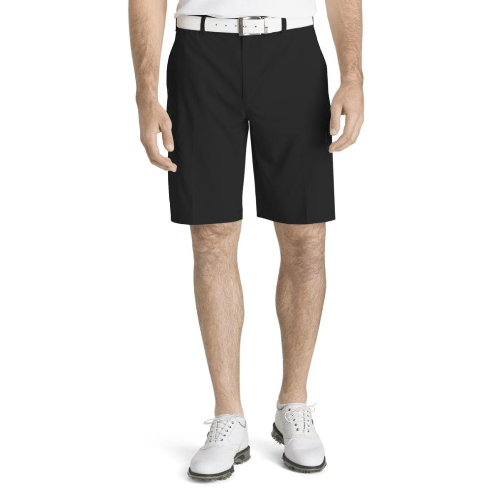 Izod Men's Swing Flex Cargo Shorts - Black, 34