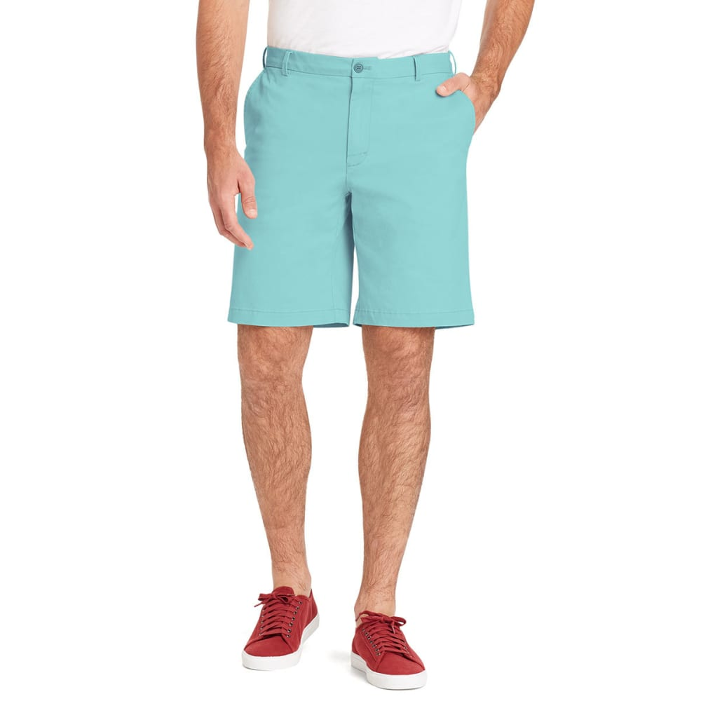 IZOD Men's Saltwater Stretch Flat-Front Chino Shorts - GULF STREAM-446