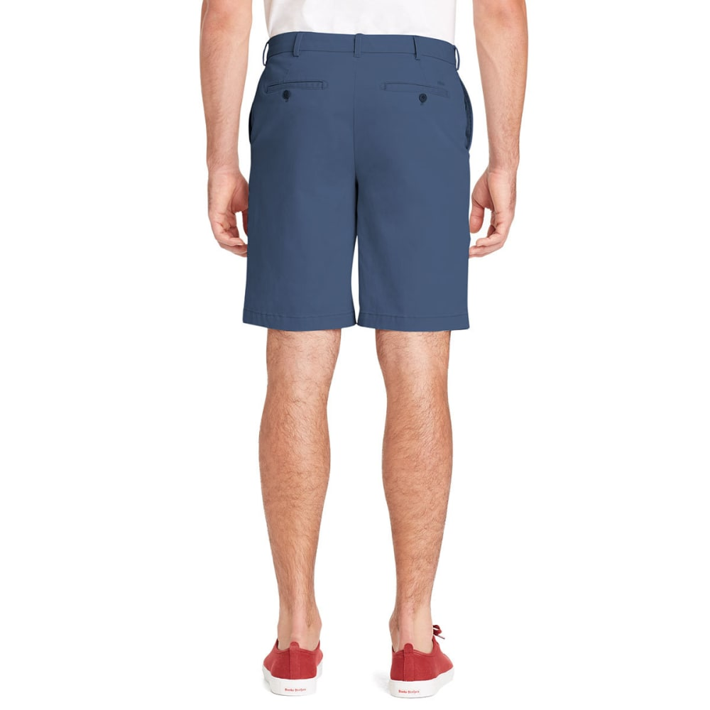 IZOD Men's Saltwater Stretch Flat-Front Chino Shorts - FEDERAL BLUE-411
