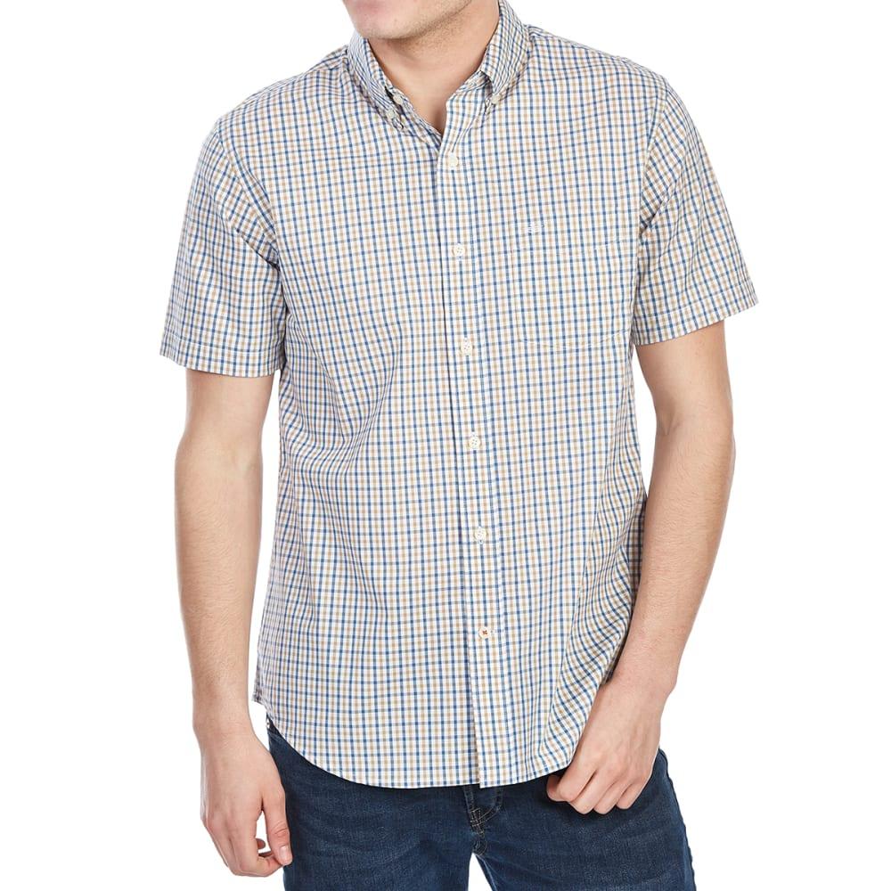 DOCKERS Men's Comfort Stretch No-Wrinkle Short-Sleeve Shirt - KHAKI DNS GING-0080