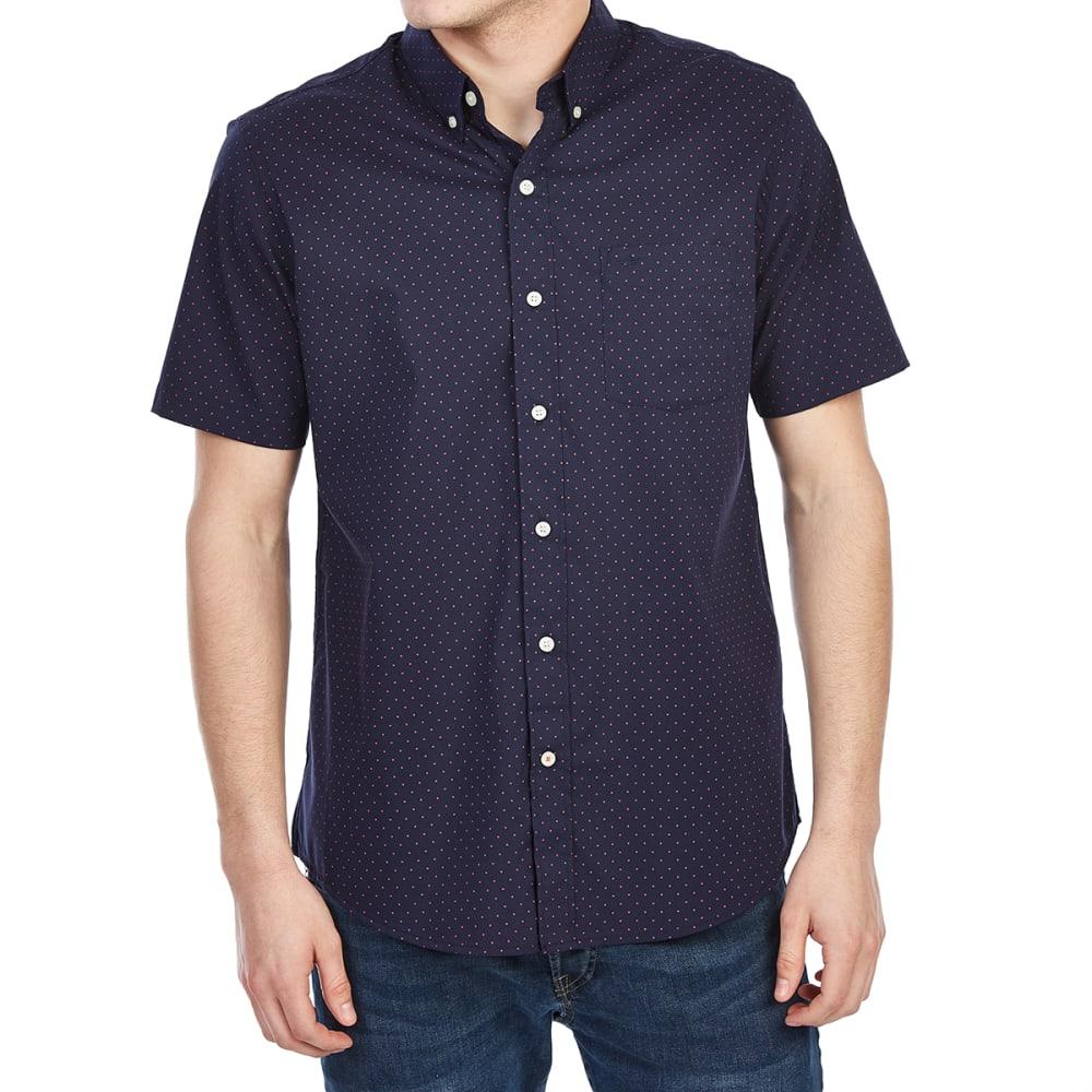 Dockers Men's Comfort Stretch No-Wrinkle Short-Sleeve Shirt - Various Patterns, L
