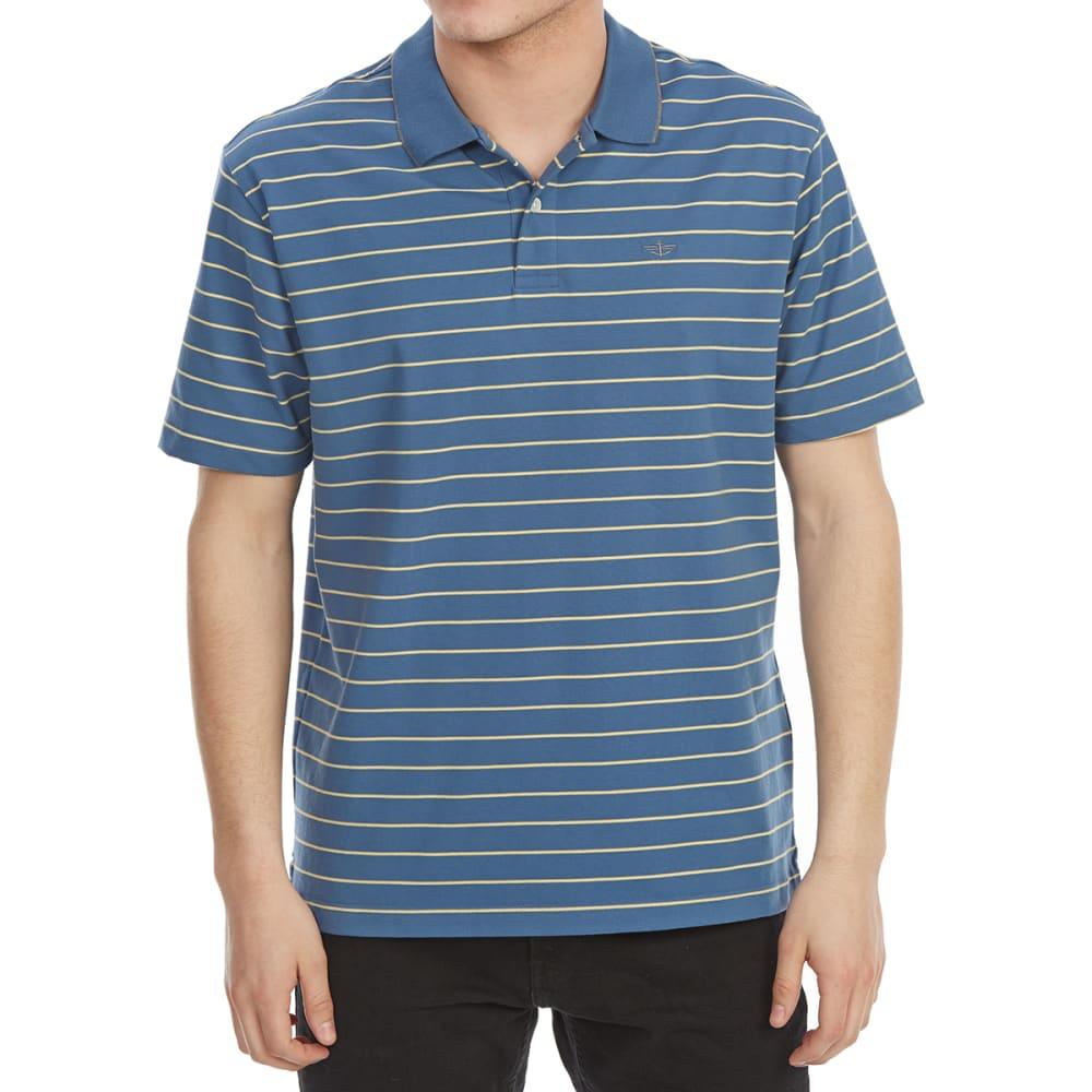 DOCKERS Men's Performance Stripe Short-Sleeve Polo Shirt M