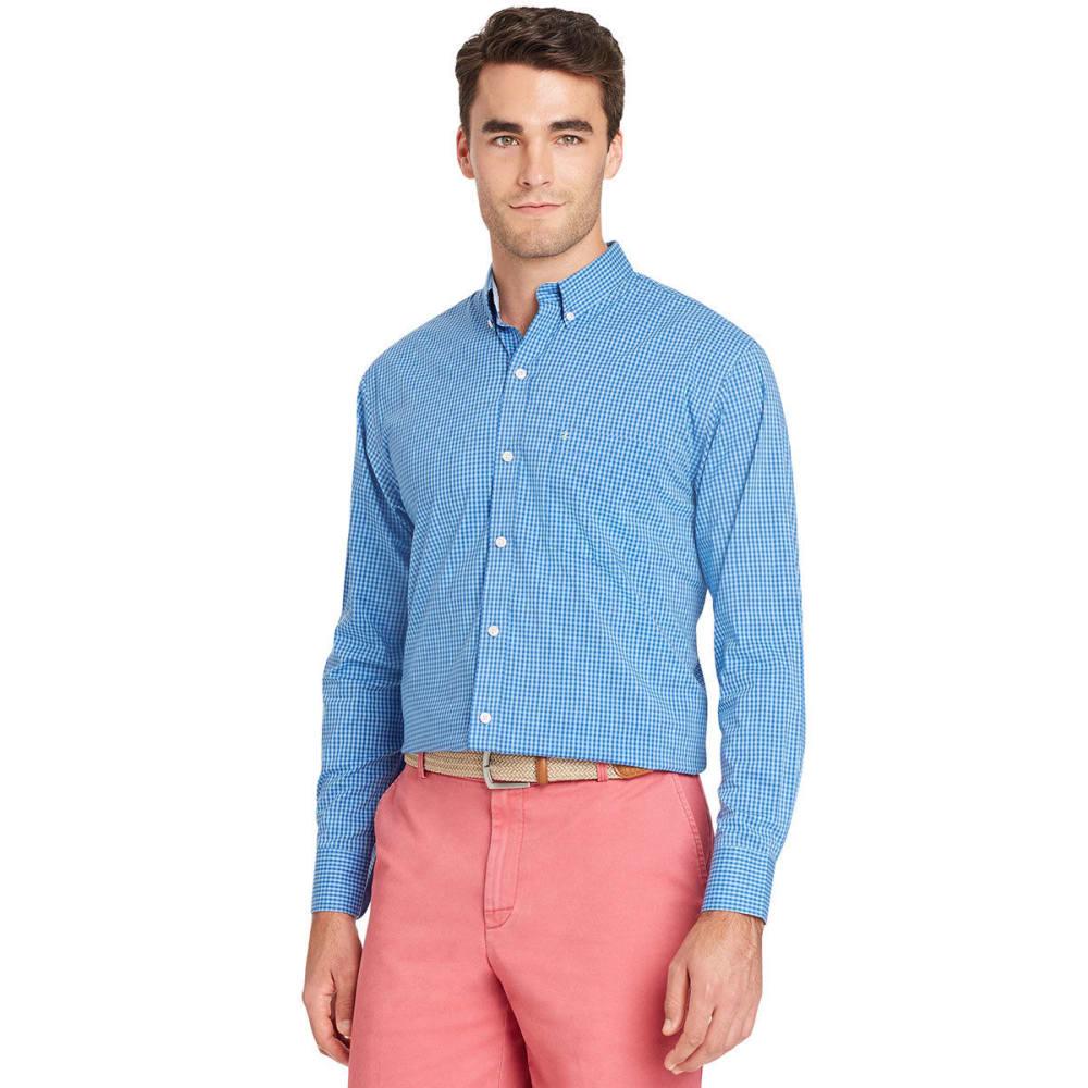 IZOD Men's Advantage Grid Stretch Long-Sleeve Shirt - LITTLE BOY BLUE-497