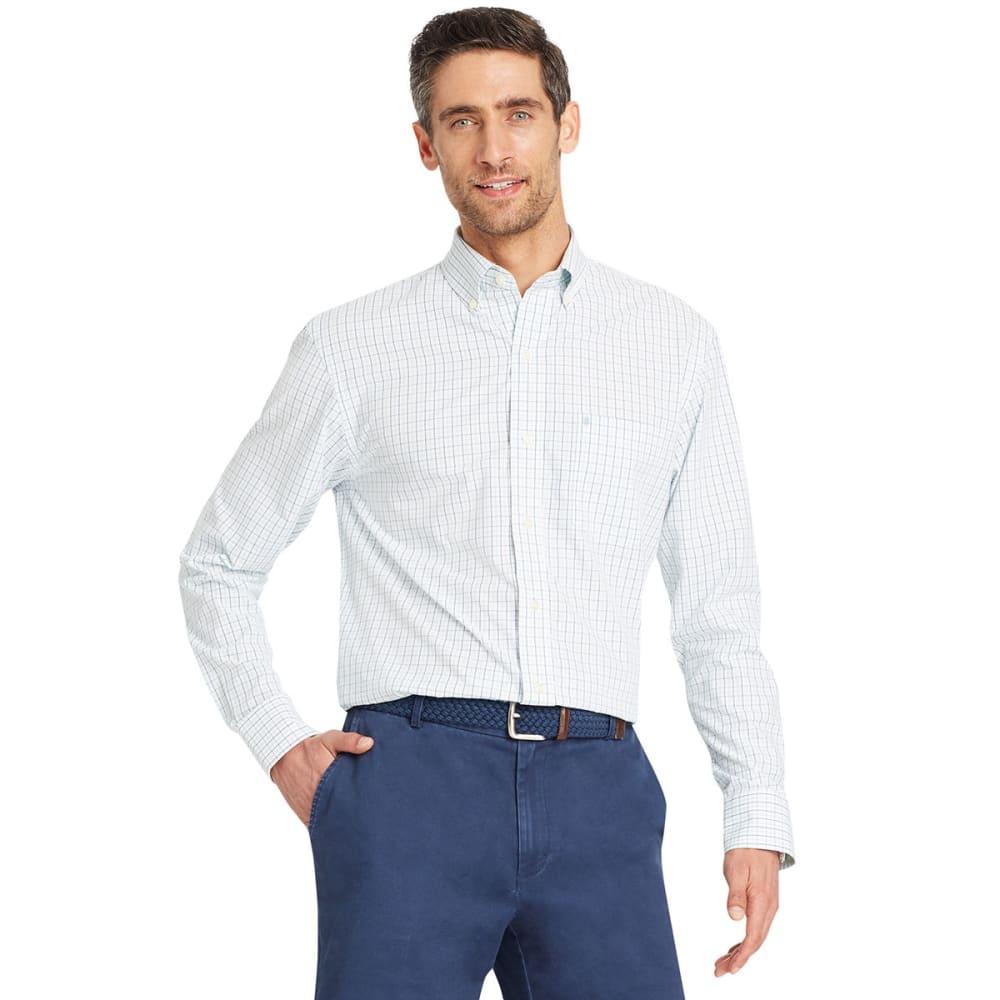 IZOD Men's Essential Tattersall Long-Sleeve Shirt - DUSTY JADE GREEN-365