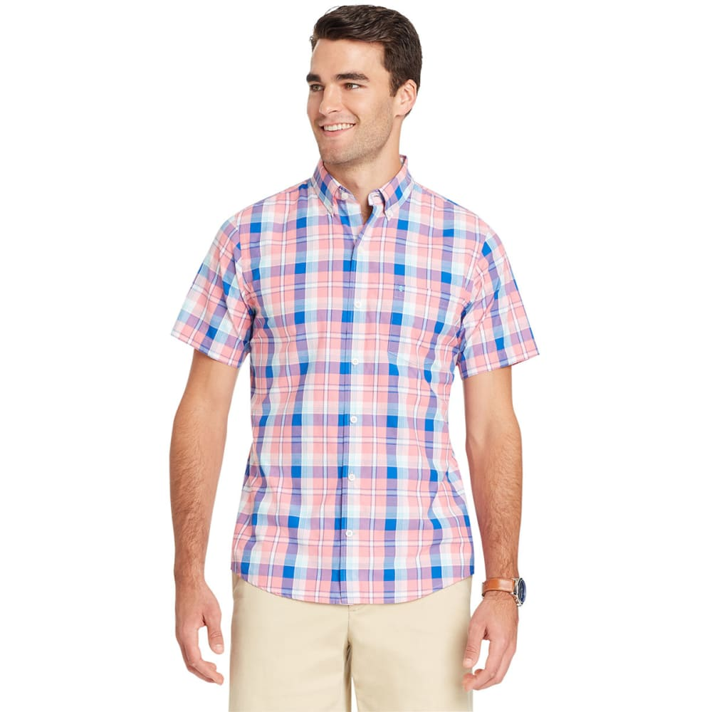 Izod Men's Advantage Cool Fx Short-Sleeve Shirt - Red, M