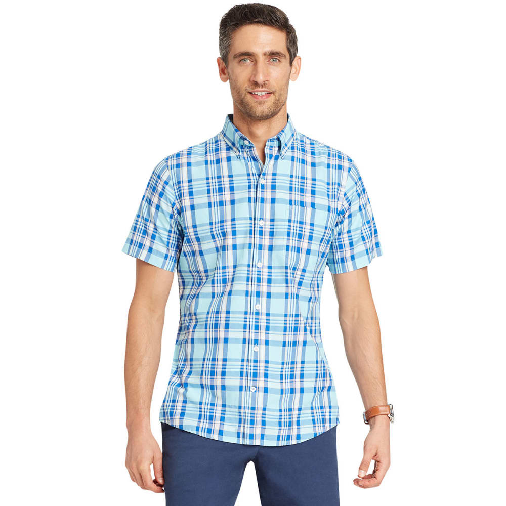 IZOD Men's Advantage Cool FX Short-Sleeve Shirt - GULF STREAM-446