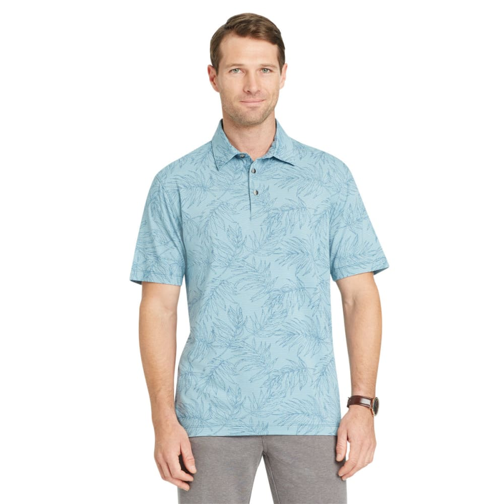 VAN HEUSEN Men's Air Print Self-Collar Short-Sleeve Polo Shirt - BLUE PROVENCIAL-486