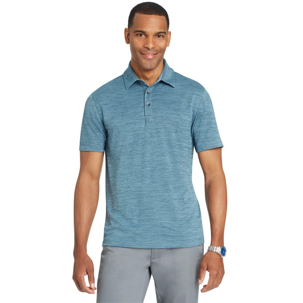 Van Heusen Men's Air Space-Dye Short-Sleeve Polo Shirt - Blue, M