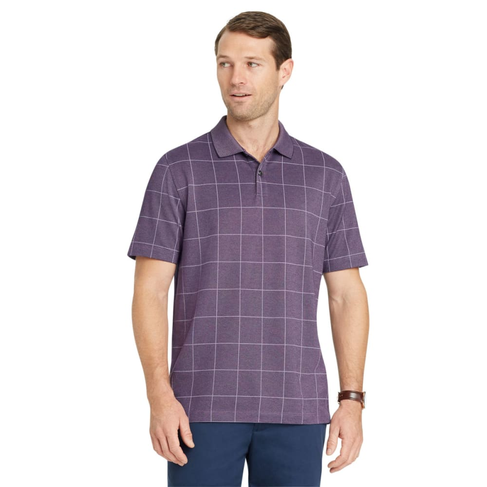 VAN HEUSEN Men's Flex Print Windowpane Short-Sleeve Polo Shirt XXL