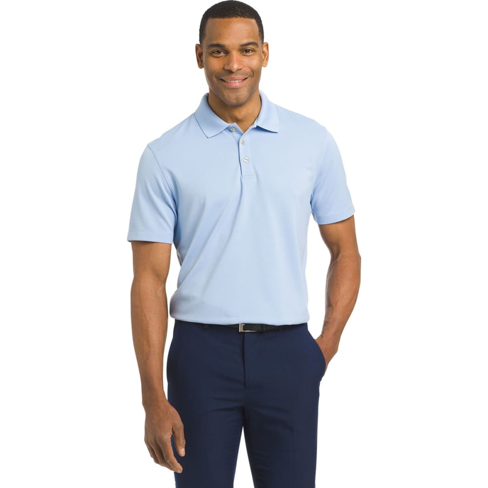 VAN HEUSEN Men's Air Ottoman Short-Sleeve Polo Shirt M