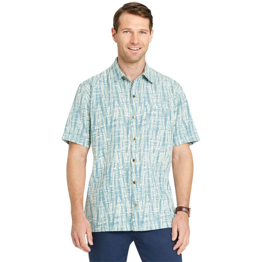 VAN HEUSEN Men's Air Print Short-Sleeve Shirt - JADEITE-331