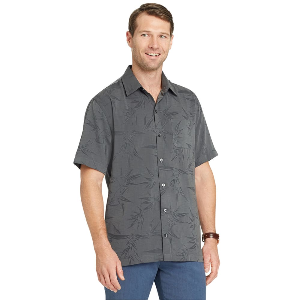 VAN HEUSEN Men's Air Print Jacquard Short-Sleeve Shirt - BLACK-001