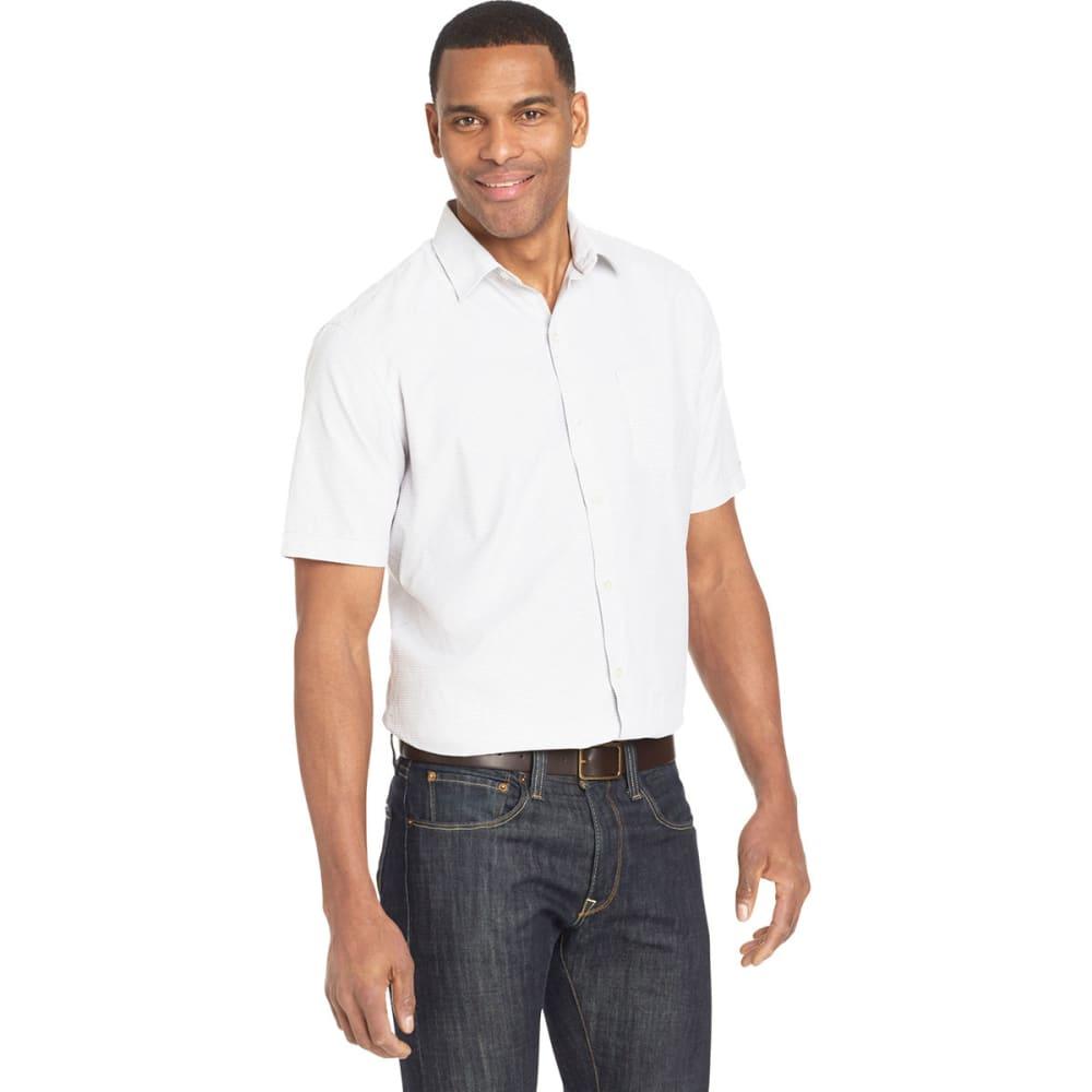Van Heusen Men's Air Mini Check Short-Sleeve Shirt - White, M
