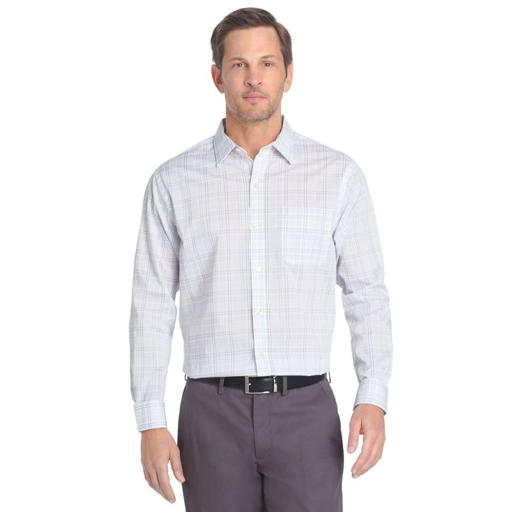 Van Heusen Men's Traveler Woven Long-Sleeve Shirt - Blue, L