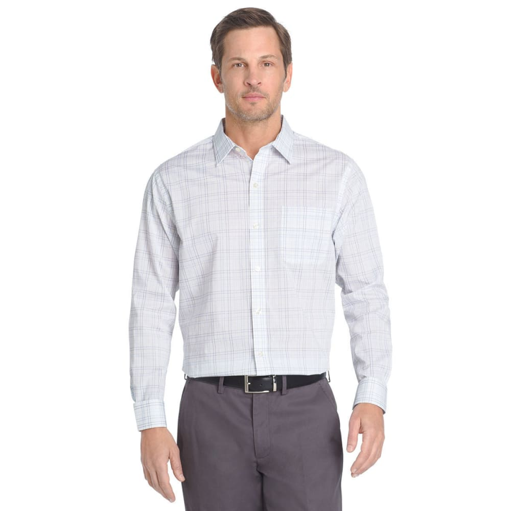 VAN HEUSEN Men's Traveler Woven Long-Sleeve Shirt - CHAMBRAY BLUE-460