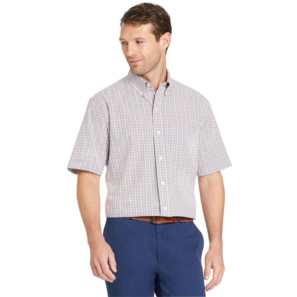 ARROW Men's Hamilton Small Plaid Short-Sleeve Shirt - ALLOY-048