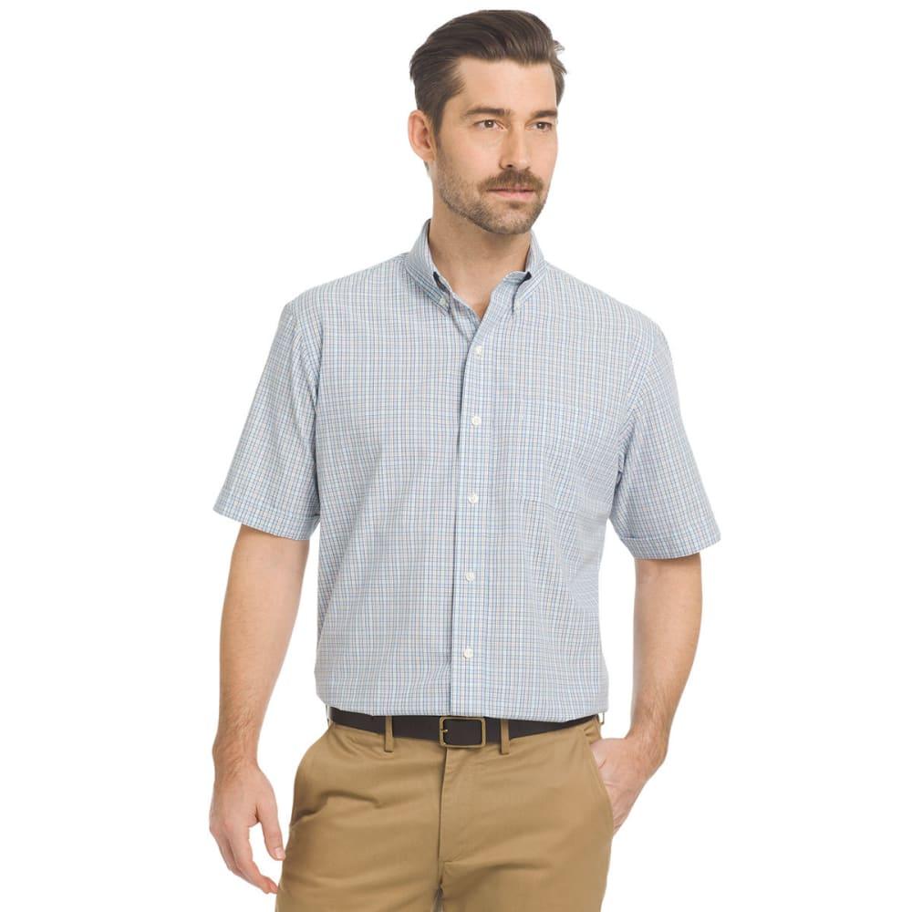ARROW Men's Hamilton Small Plaid Short-Sleeve Shirt L