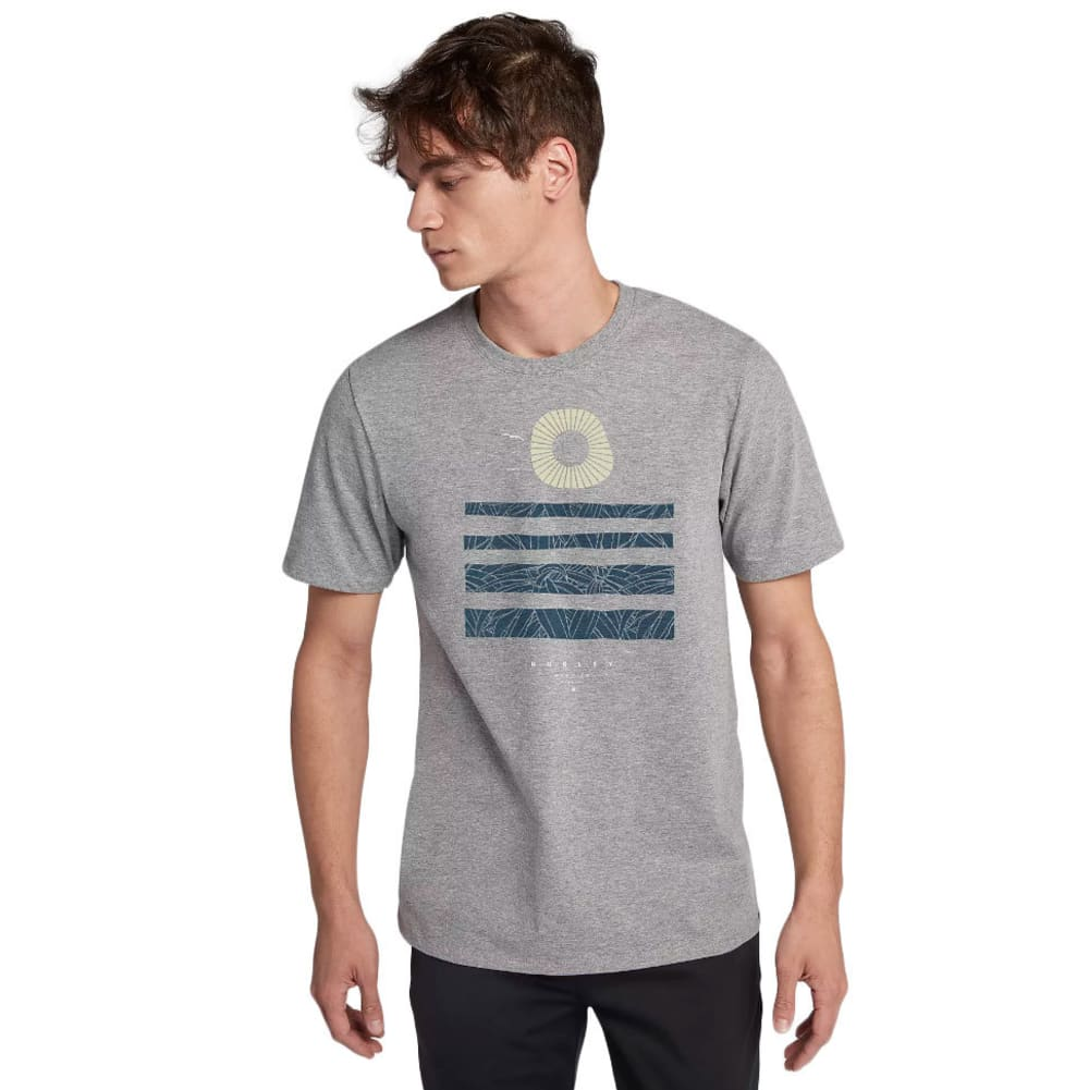 Hurley Men's Setting Lines T-Shirt - Black, S
