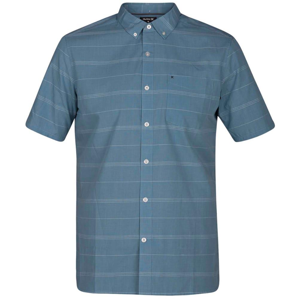 HURLEY Men's Dri-Fit Rhythm Short-Sleeve Shirt - NOISE AQUA-407