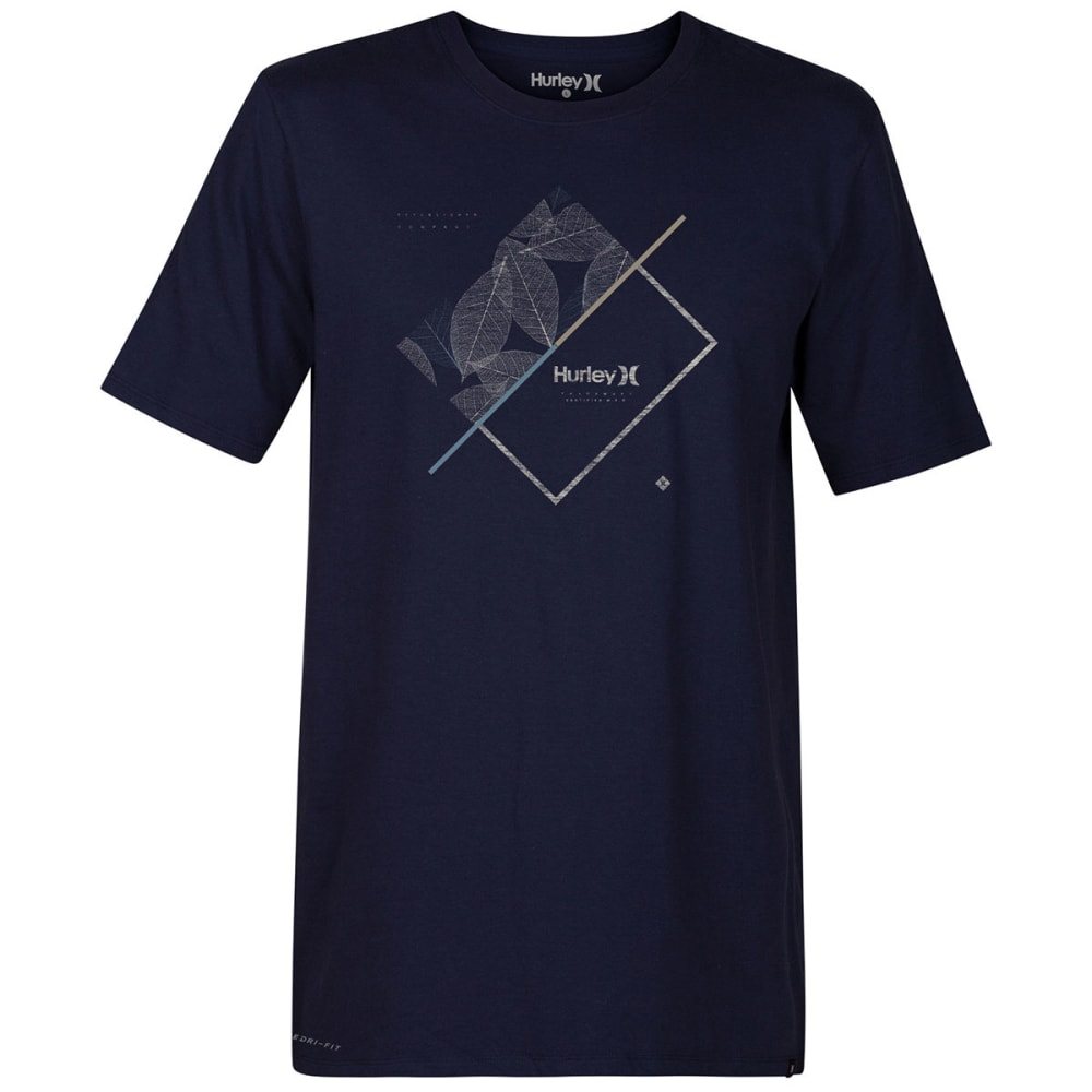 HURLEY Guys' Breaking Lines Dri-FIT Short-Sleeve Tee - OBSIDIAN-451
