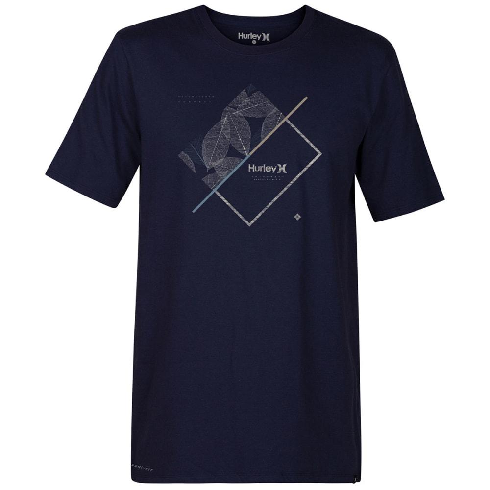 Hurley Guys' Breaking Lines Dri-Fit Short-Sleeve Tee - Blue, S