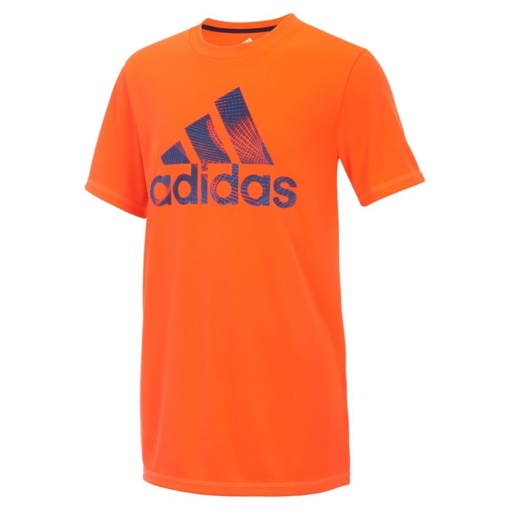 ADIDAS Big Boys' Pattern Fill Logo Short-Sleeve Tee - SOLAR RED-AR105