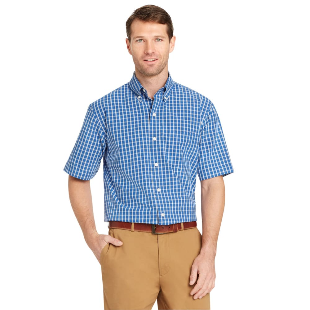 ARROW Men's Hamilton Plaid Short-Sleeve Shirt - BLUE AZALIA-406