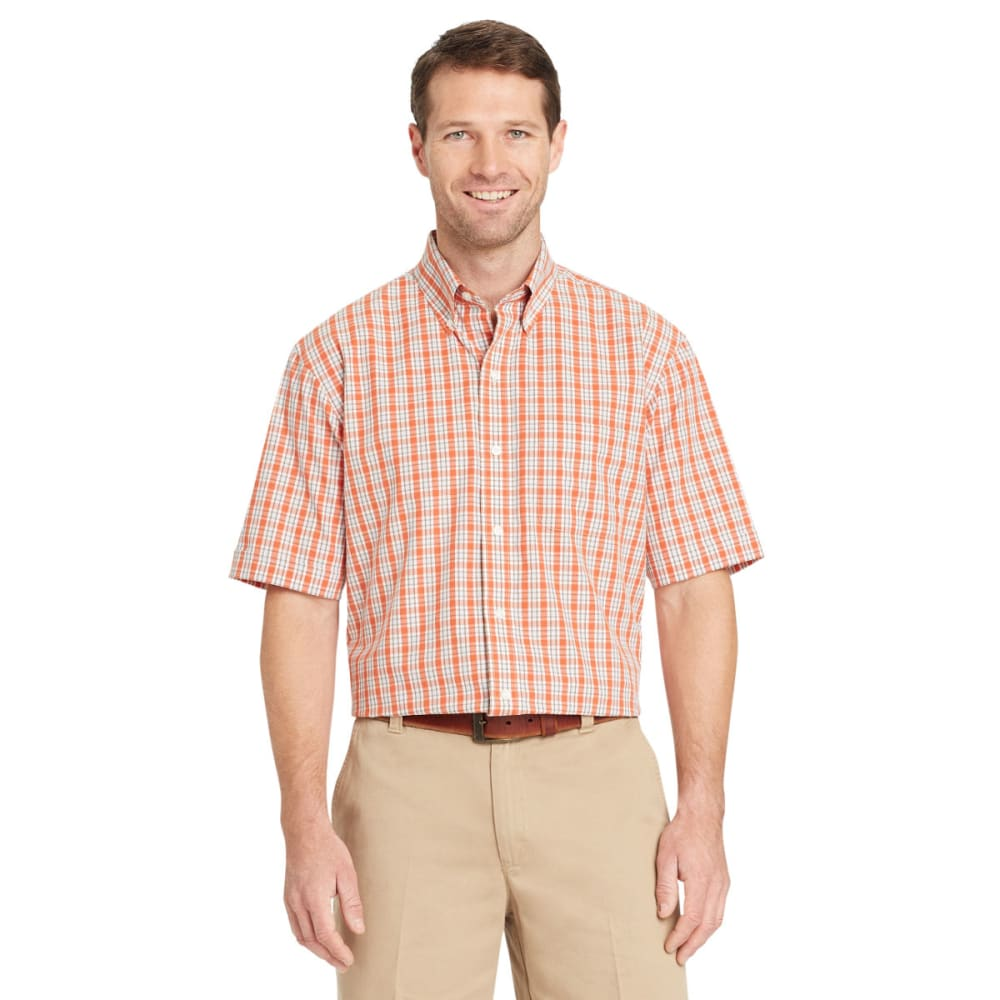 ARROW Men's Hamilton Plaid Short-Sleeve Shirt - ORANGE RUST