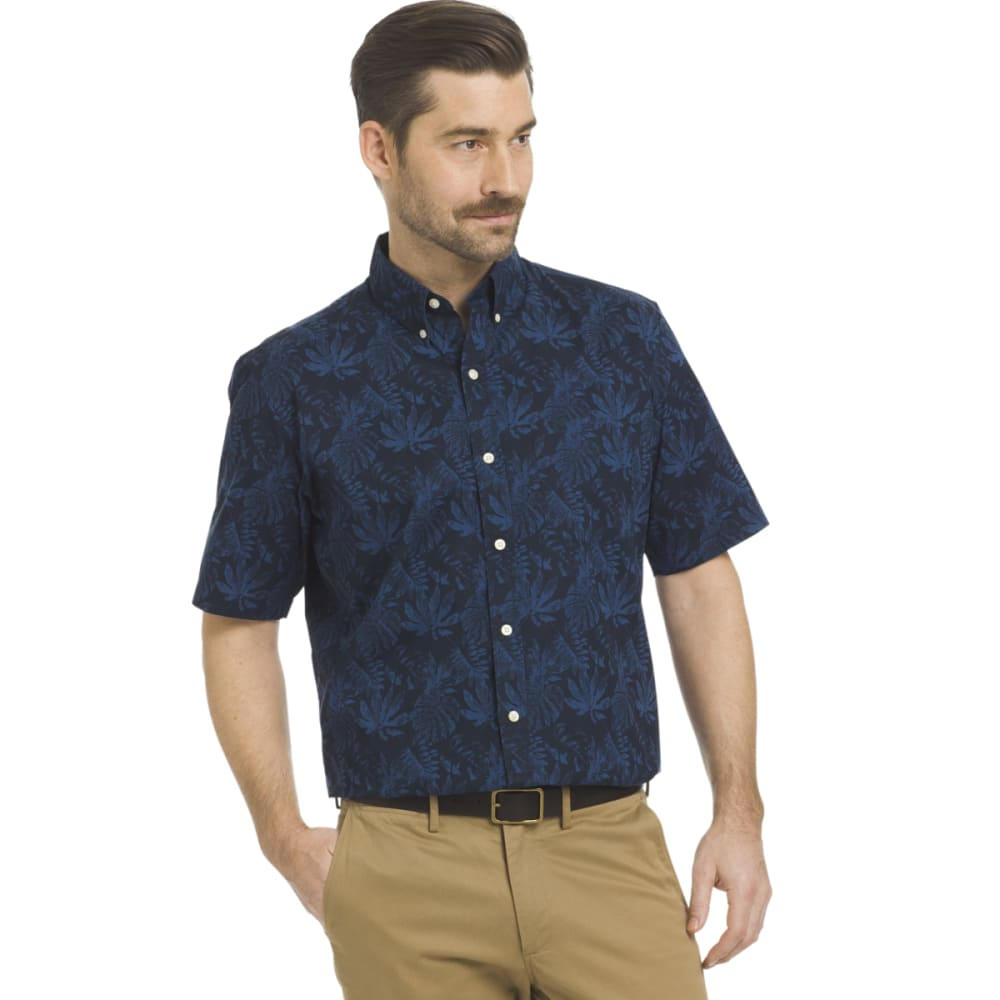 ARROW Men's Coastal Cove Woven Short-Sleeve Shirt - NAVY BLAZER-410