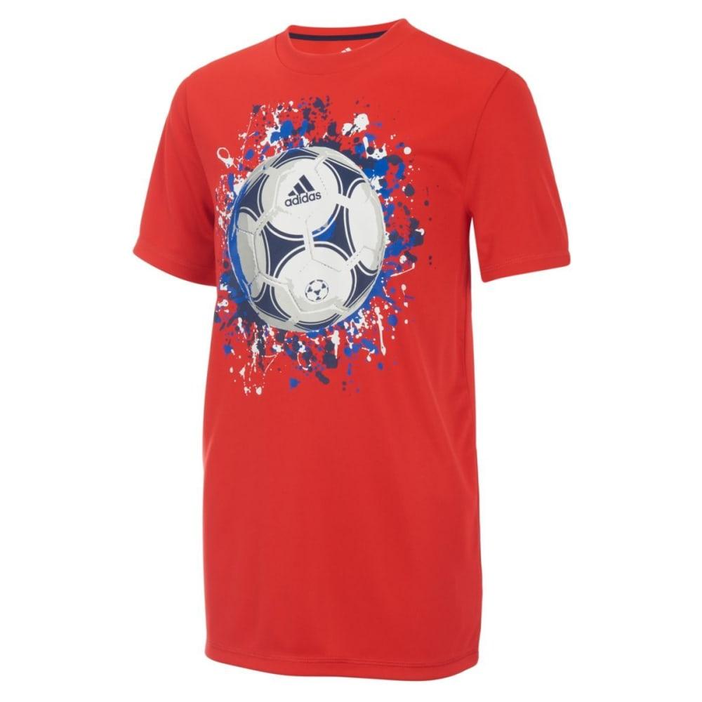 ADIDAS Boys' Patriotic Soccer Tee - VIVID RED-AR93