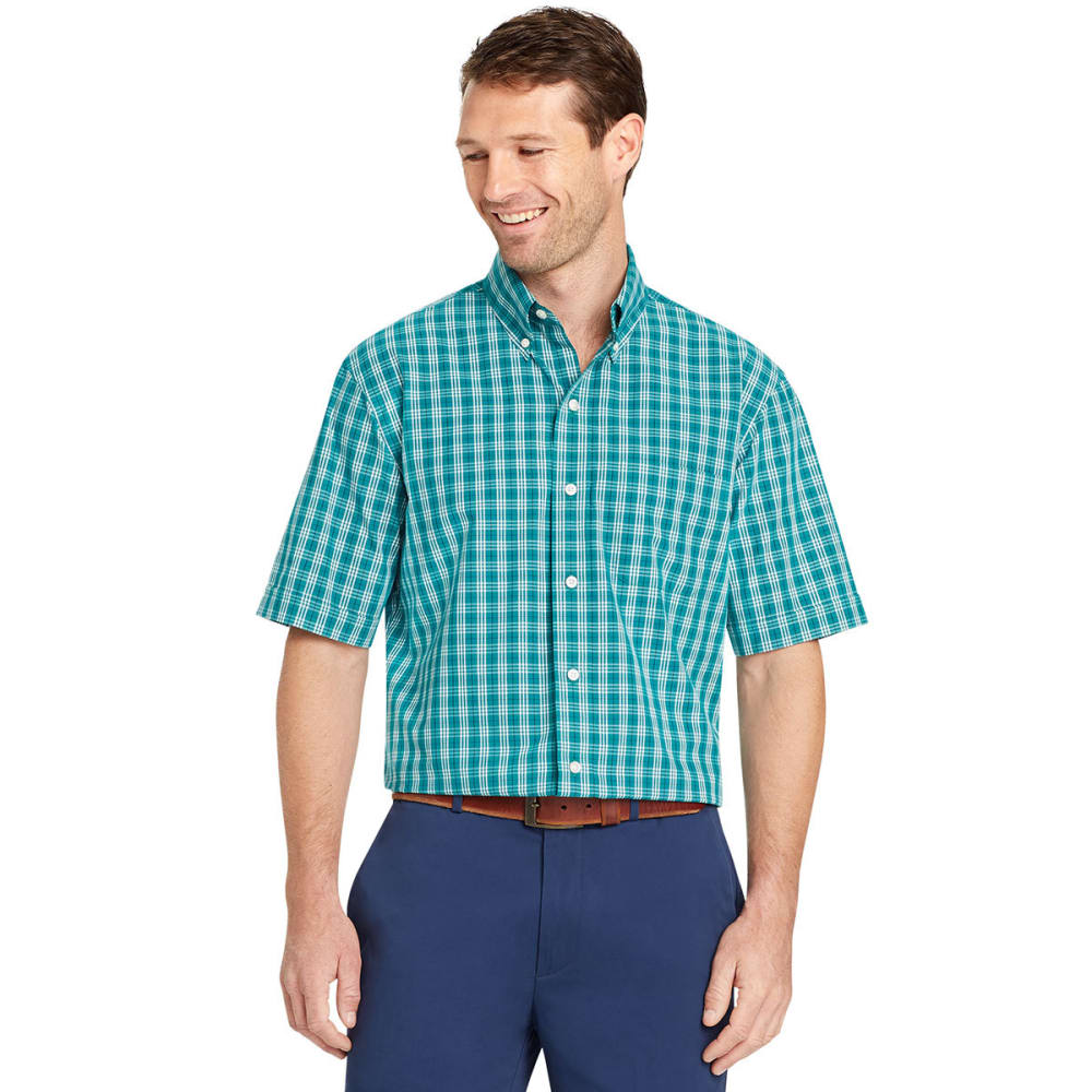 Arrow Men's Hamilton Plaid Short-Sleeve Shirt - Green, M