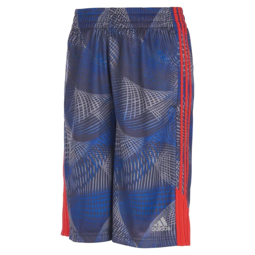 ADIDAS Boys' Amplified Net Basketball Shorts - COL RYL/V RED-AB103
