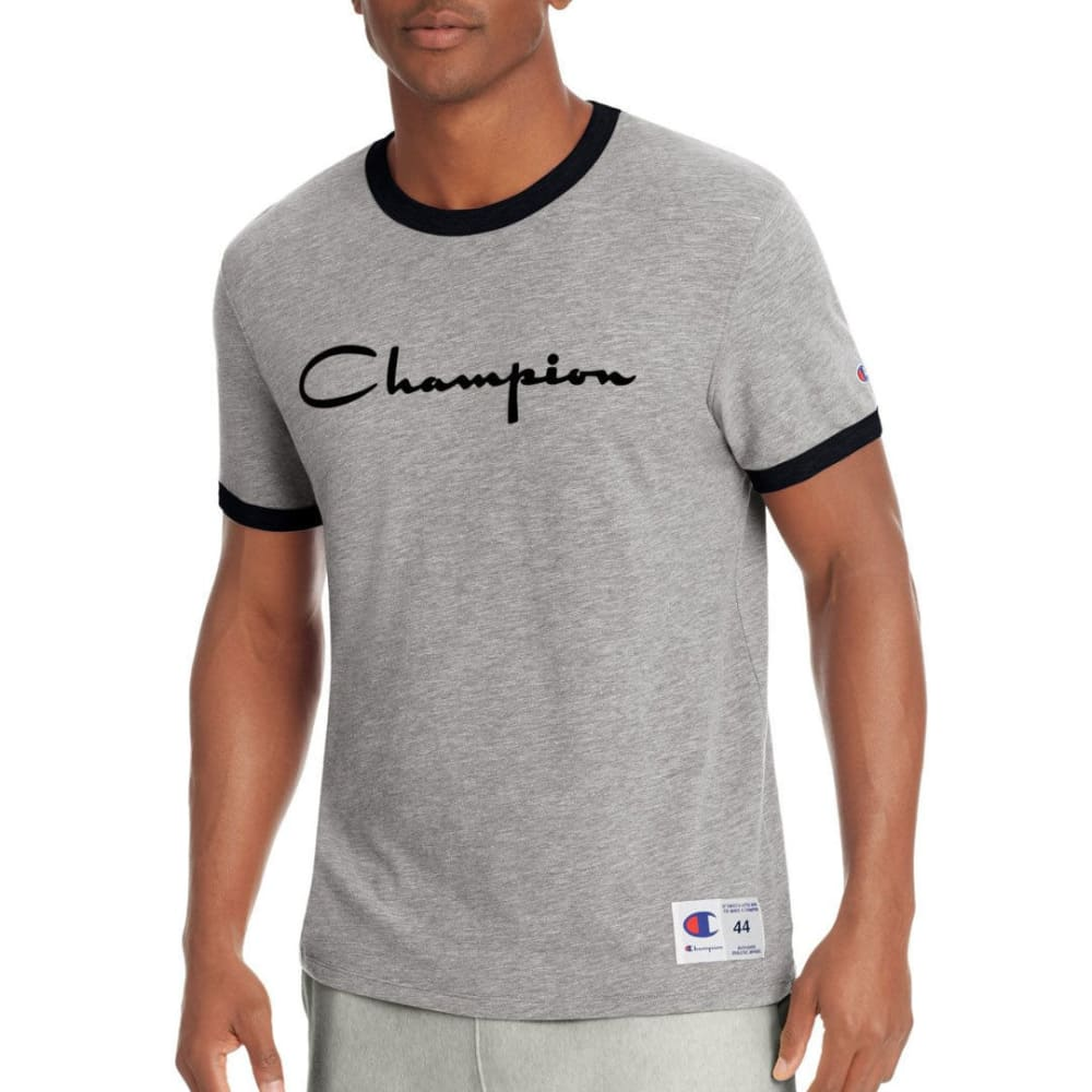Champion Men's Heritage Ringer Short-Sleeve Tee - Black, M